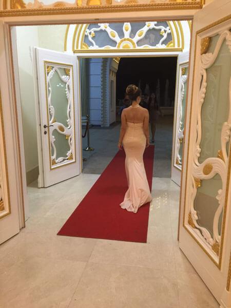Pink Mermaid Prom Dress Formal Dress