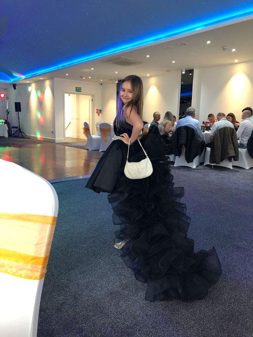 Sleeveless Black Cocktail Dress High Low Dress