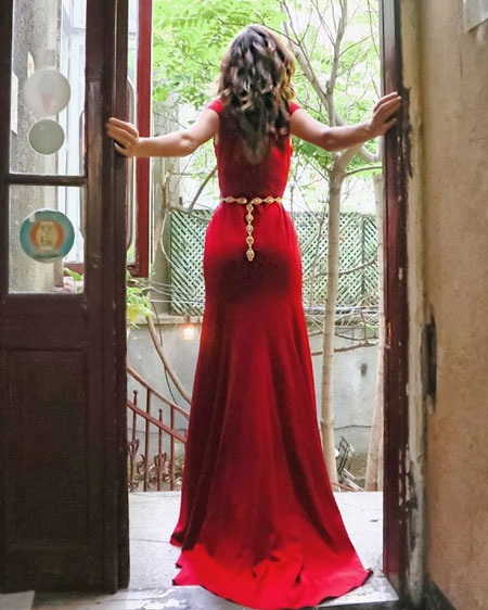 Off the Shoulder Mermaid Red Evening Dress