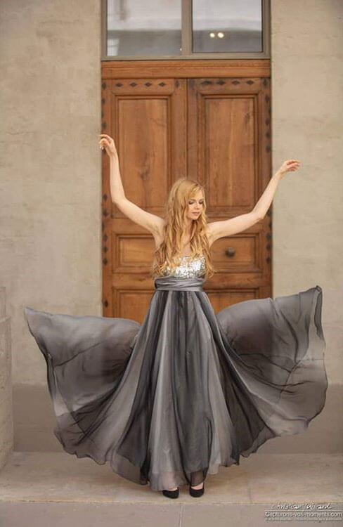 Strapless Grey Prom Dress A-line