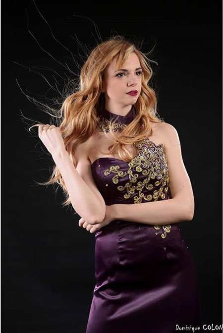 Halter Eveing Dress Purple Prom Dress