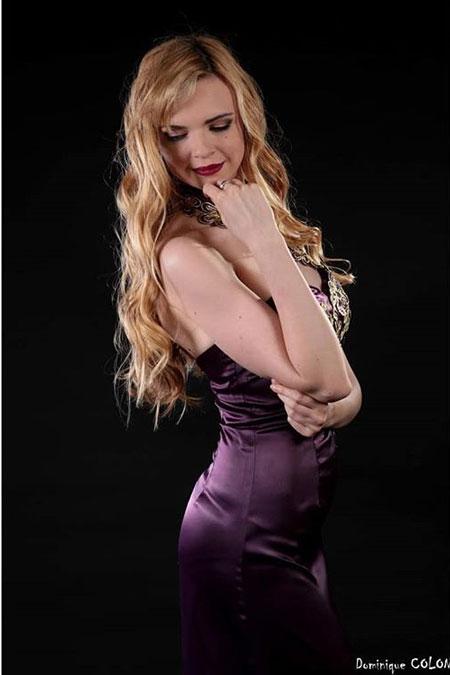 Halter Prom Dress in Purple