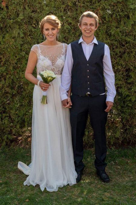 Illusion Neckline Wedding Dress A-line