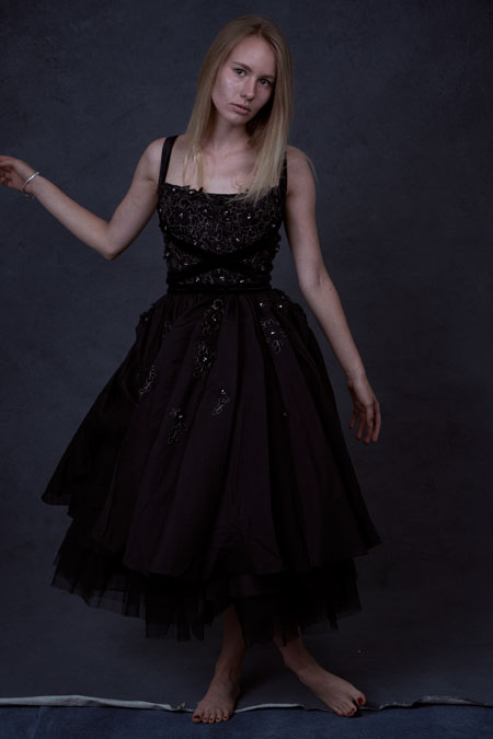 Straps Ball Dress in Black, Formal Graduation Dress