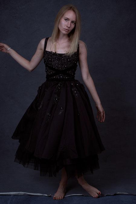 Straps Ball Dress in Black, Formal Graduation Dress