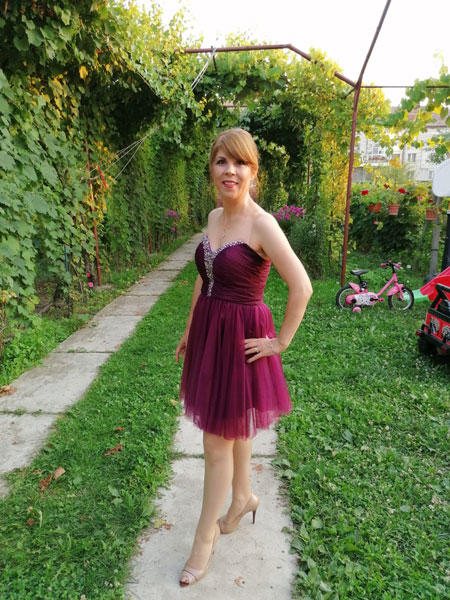 Strapless Fuchsia Cocktail Dress Summer Dress