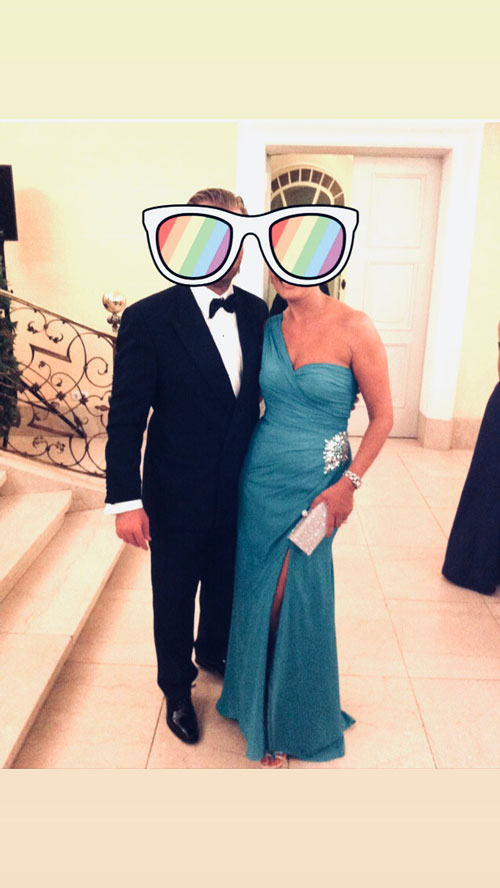 One Shoulder Turquoise Prom Gown