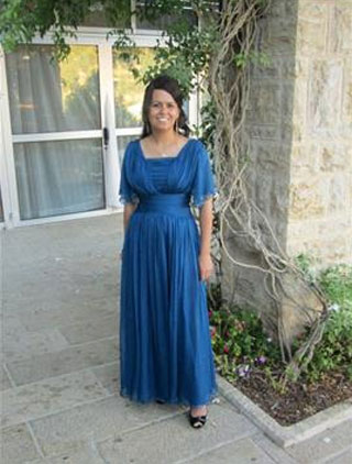 Blue Short sleeves Mother of the Bride Dresses