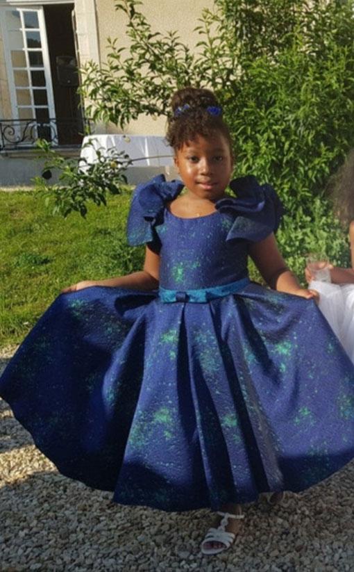 Blue Lovely party flowergirl  Dress