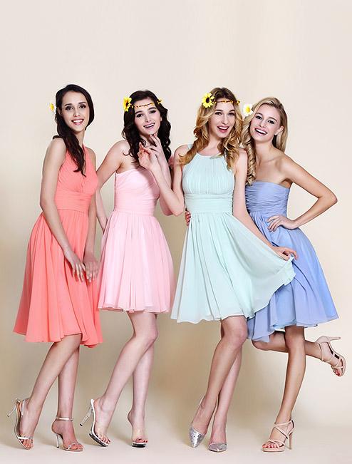 Разноцветные платья подружки невесты